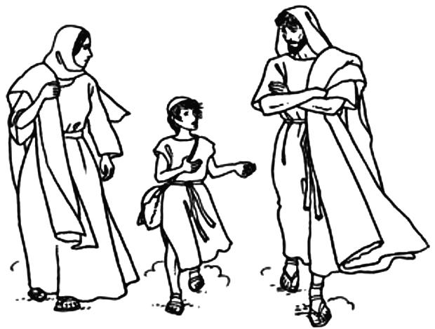 Coloriage Sainte Famille.La Sainte Famille