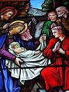 Image Vitrail Nativité, église de Pléneuf-Val-André (22)